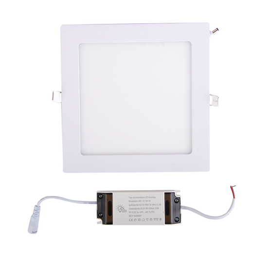 Led paneeli IP44 CRI90 15W, neliö