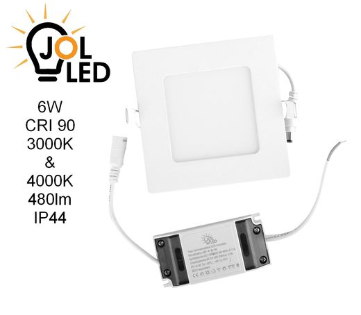 Led paneeli IP44 CRI90 6W, neliö